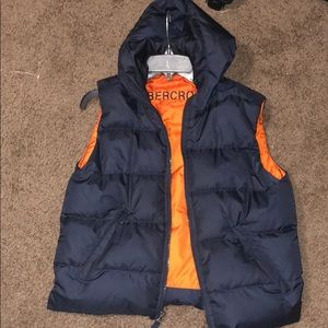 Abercrombie Puff vest with Hood.